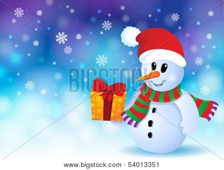 Christmas snowman theme image 3 - eps10 vector illustration.