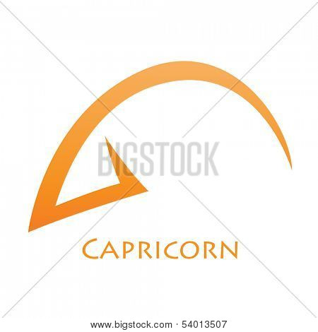 Illustration of Simplistic Lines Capricorn Zodiac Star Sign isolated on a white background