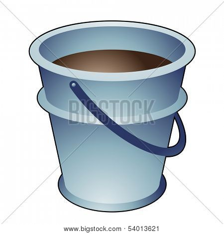 Illustration of DIY item, Cartoon Bucket isolated on a white background