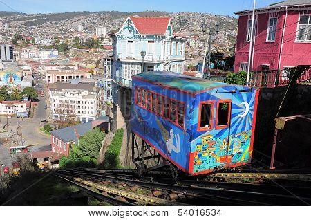 Funicular railway.