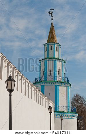 South-east Tower Of  Raifa Male Bogoroditssky Monastery. Tatarstan. Russia