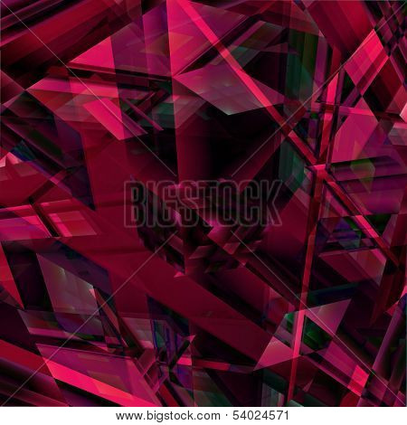 Red Blocky Abstract