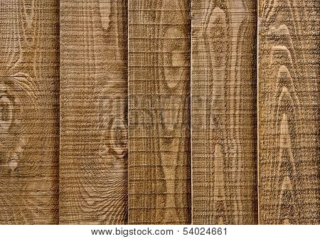 Wood Fence Section In Closeup