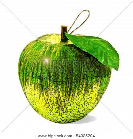 Christmas Apple Bauble In Green