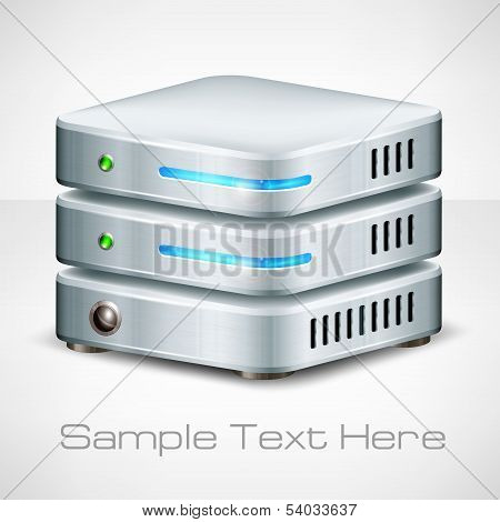 Network Server On White
