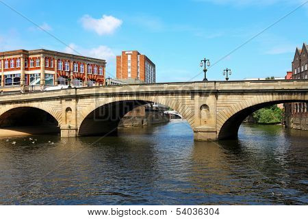 Bridge and River Ouse  in York. UK