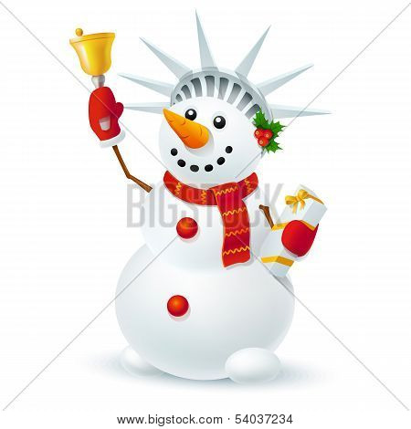 Snowman of liberty - Illustration