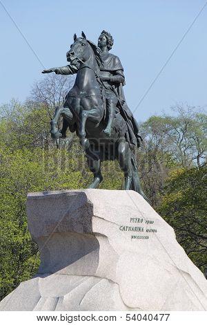 Bronze Horseman  In Saint Petersburg, Russia.