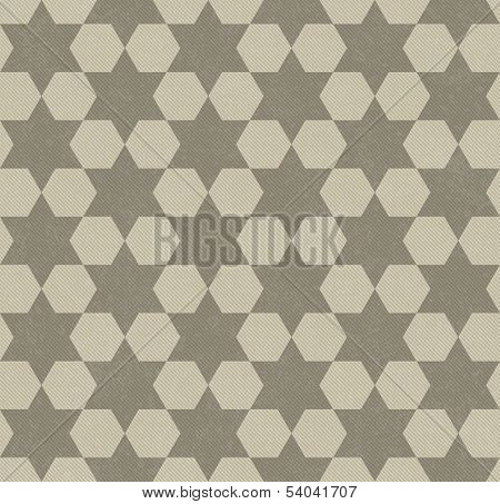 Beige Hexagon Patterned Textured Fabric Background