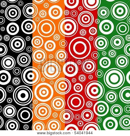 Set Of Seamless Textures With Concentric Circles.