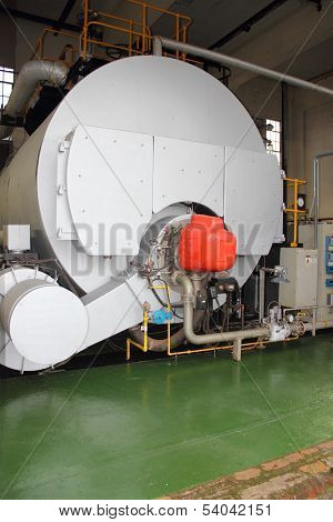 Industrial duel fuel 35000 lbs steam boiler