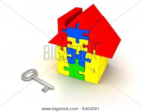 Puzzle House And Key