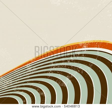 Retro lines - abstract radio waves background - 70s music