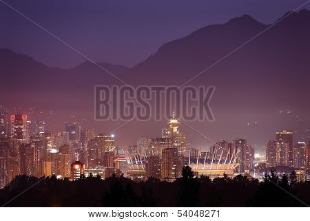Misty Twilight, Vancouver Skyline