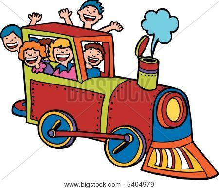 Cartoon Train Ride Color