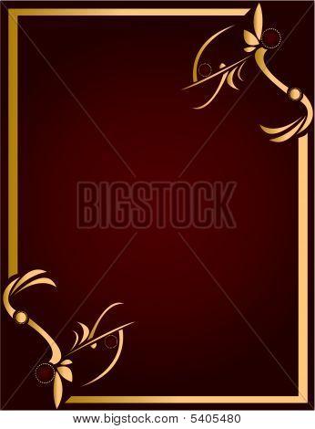 Fondo de oro y Borgoña