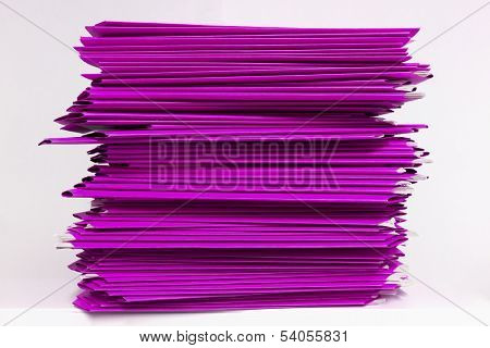 Stacks Of Purple Folders