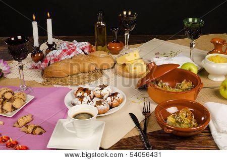 Festive Hanukkah Table