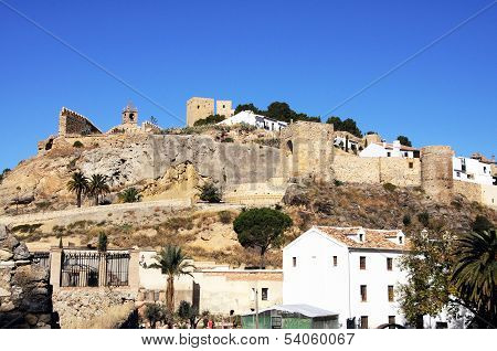 Castle and watermill, Antequera, Spain.