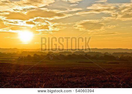 Amazing Croatia Landscape Golden Sunset