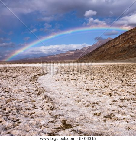 Rainbow Over Badwater