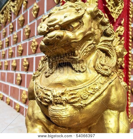Statue Of Golden Lion