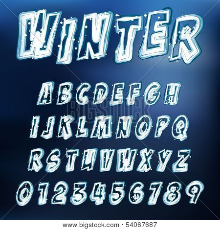 Vector Icy Alphabet
