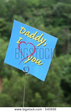 Ich liebe Daddy Nachricht