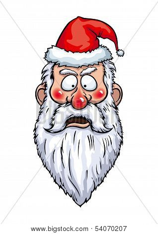 Santa Claus Alarmed Head