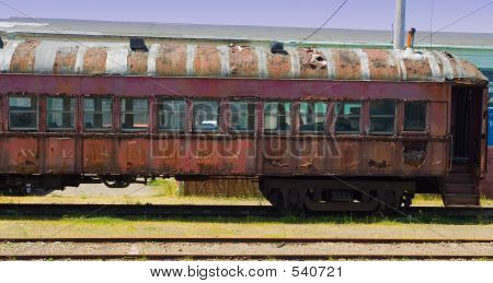 Old Abandoned Passenger Train Car
