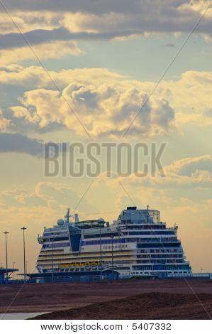 Cruise Ship And Clouds