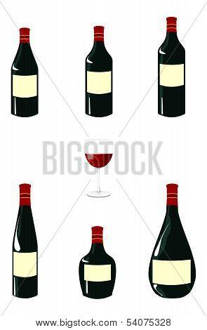 Red Wine Bottles Pack