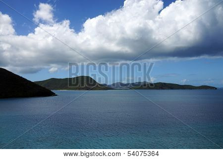 Blue waters and sky