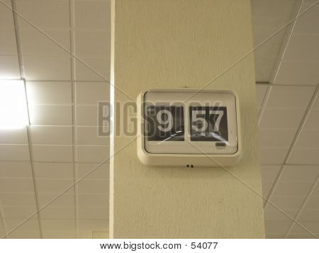 Analogue Clock On Pillar