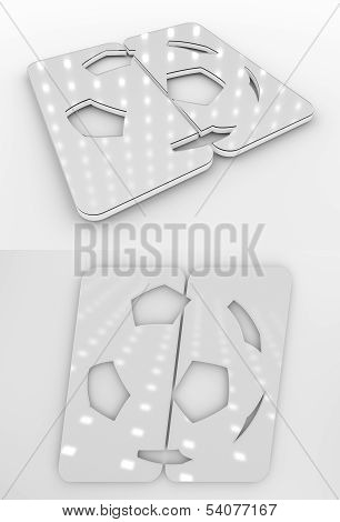 Football Symbol White Colourless Template