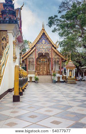 Buddhist Temple Of Wat Phrathat Doi Suthep In Chiang Mai, Thaila
