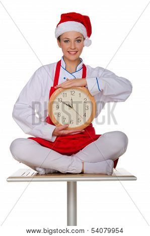 Smiling Cook And Timer