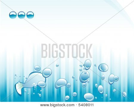 Blue Lines And Bubbles Flayer with high contrast colors