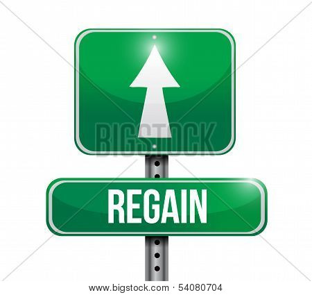 Regain Road Sign Illustration Design