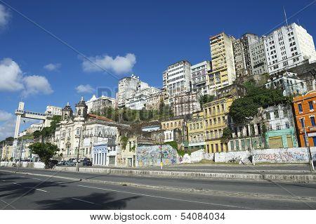 Salvador Brazil City Skyline from Cidade Baixa