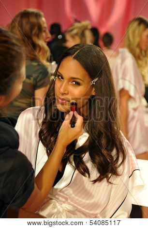 NEW YORK NY - NOVEMBER 13: Model poses at the 2013 Victoria's Secret Fashion Show