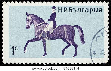 Bulgaria Stamp With Horseback Riding