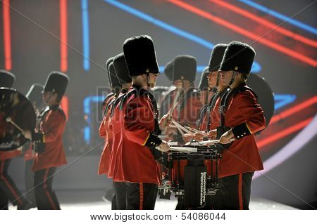 NEW YORK NY - NOVEMBER 13: British military drummers opening British invasion segment