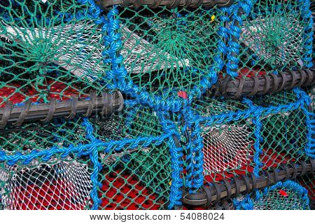 Pile of lobster traps