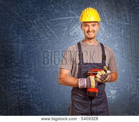 Handyman And Grunge Background
