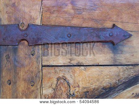 Rustic Hand Forged Iron Arrow Hinge