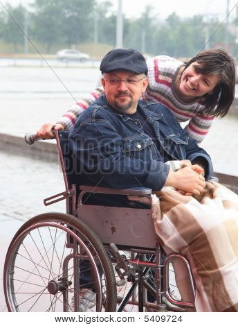 Man In An Invalid Carriage