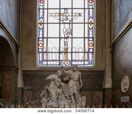 Interiors of Saint Roch church, Paris, France