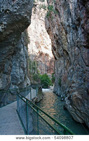 Entrance To Saklikent Gorge In Turkey