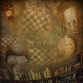 stock photo of alice wonderland  - Abstract background to the novel Alice in Wonderland - JPG